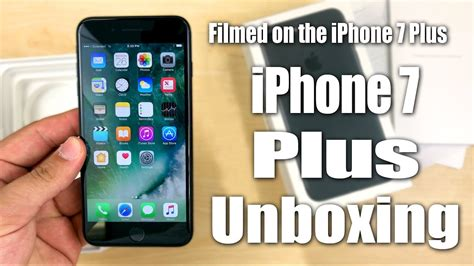 iphone 7 plus unboxing 128gb matte black filmed on the iphone 7 plus in 4k