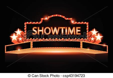 brightly theater glowing retro cinema neon sign brightly