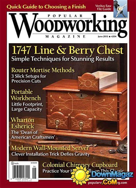 popular woodworking  june