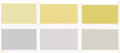 light gray color schemes light gray and yellow color scheme calm fall decorating ideas