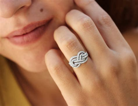 infiniti ring gold wedding band infinity knot ring by
