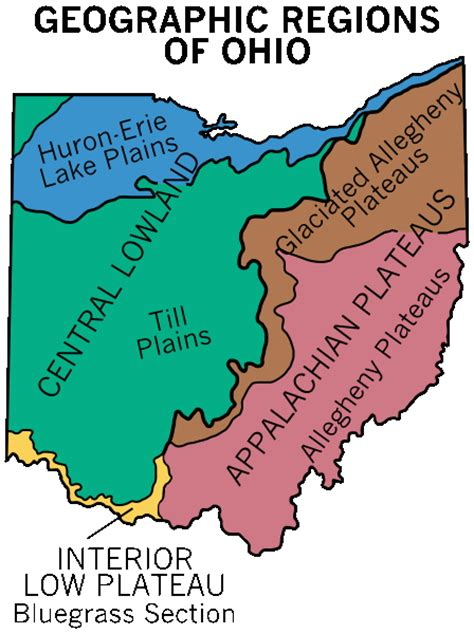 map of ohio regions ohio maps and information