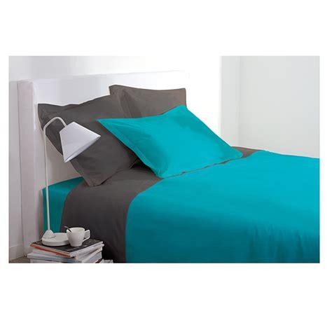 couette lit 1 personne housse de couette 1 personne 140x200 cm 100 coton turquoise maison fut 233 e