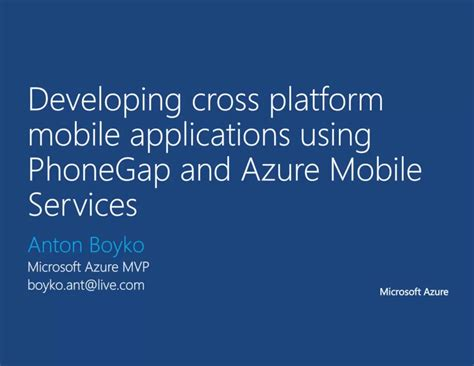 microsoft cross platform mobile development 03 development of cross platform mobile app using
