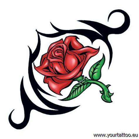 rose mit dornen tribal tattoo