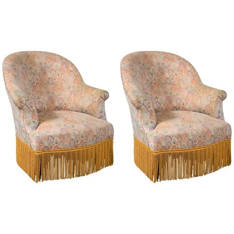 slipper chairs for sale pair of slipper chairs for sale at 1stdibs