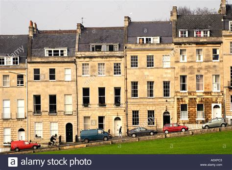 houses to buy bath terrace of georgian town houses marlborough buildings bath england uk stock photo