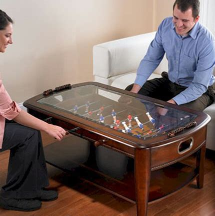 Football Coffee Table Dining And Coffee Tables With Built In Practical Furniture For Evenings Digsdigs