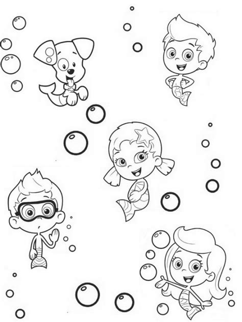 bubble guppies coloring pages nick jr online printable bubble guppies coloring sheet for kids