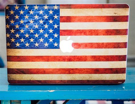 rugged american flag 10 creative laptop skins to freshen up your macbook the travel gear reviews