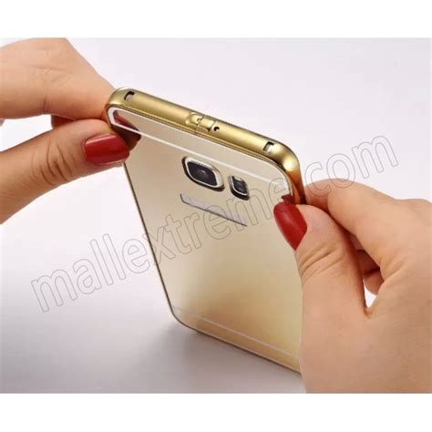 Metal Bumper Miror For Galaxy S6 Edge Pluss gold high quality aluminum metal bumper for