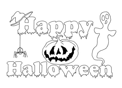 cool halloween printable coloring pages happy halloween colorings festival collections