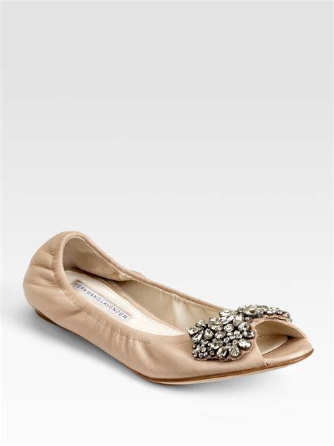 vera wang shoes flats vera wang lavender jeweled open toe ballet flats in brown
