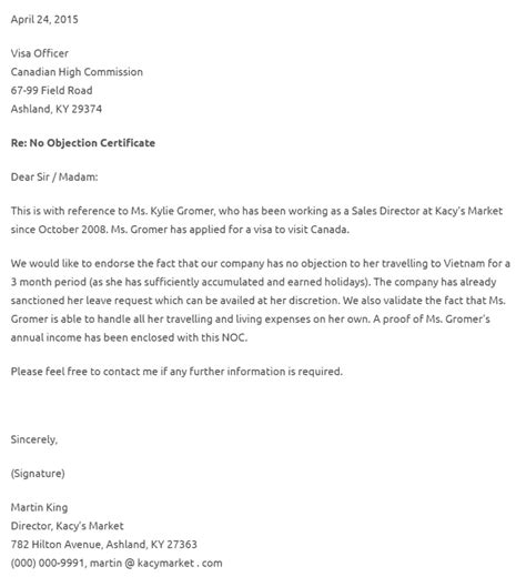 no objection certificate templates property study noc certificate