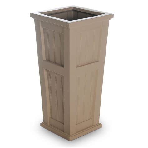 Column Planters by Mayne Cape Cod 15 1 2 In Square Clay Plastic Column