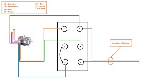 wiring diagram 230v single phase motor
