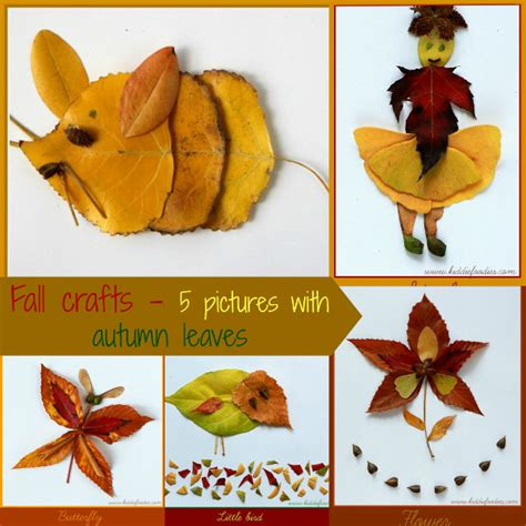 Fall Crafts For 5 Pictures With Autumn Leaves
