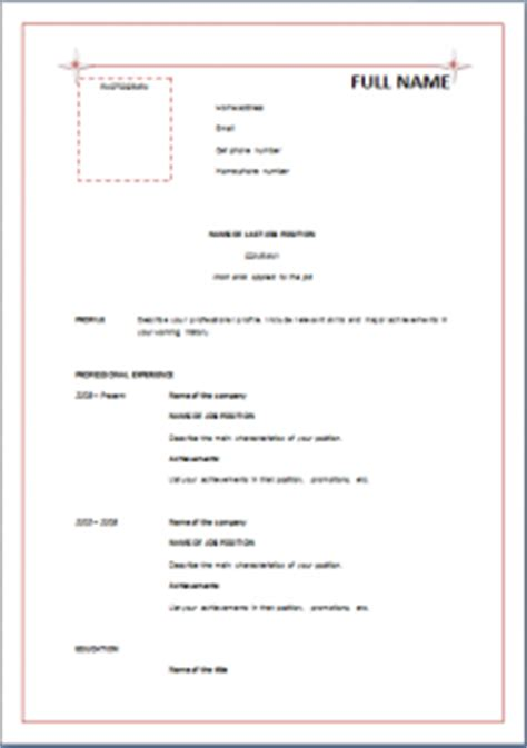 formal resume template resume cv advice resume templates