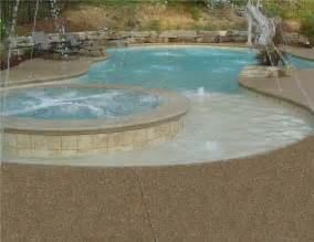 inground swimming pool deck around gunite pool in white lake tropical pool detroit by