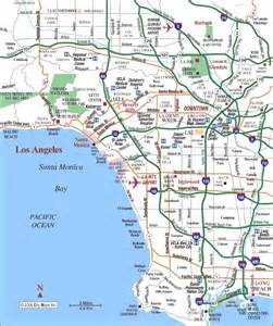 map to los angeles california map of los angeles california
