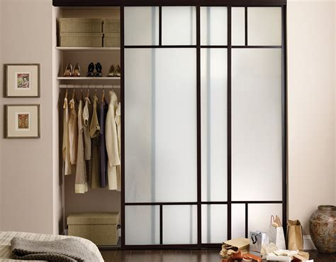 Slide Door Closet Sliding Glass Closet Doors Frosted