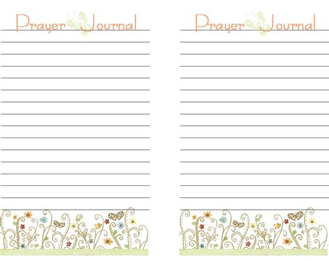 prayer journal template out of darkness