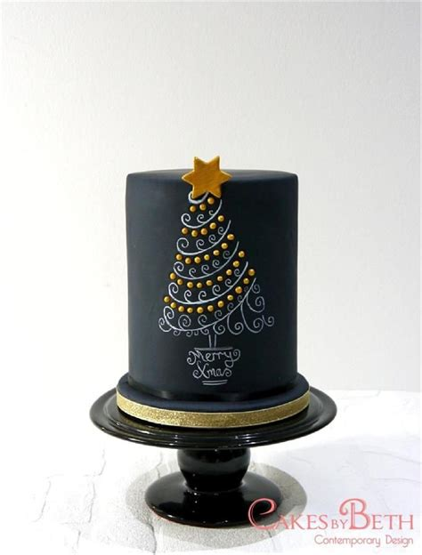 easy classy christmas tree from fondant best 25 chalkboard cake ideas on wedding cake boards black fondant and cakes