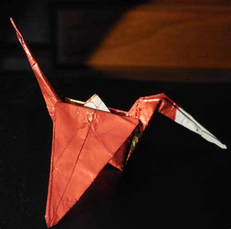 Origami Crane Gum Wrapper - wrapper crane by crochetamommy on deviantart