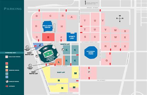 of parking map maps and parking lincoln financial field