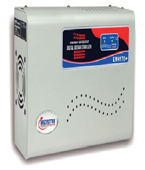Ac Voltage Stabilizer microtek microtek em4170 ac voltage stabilizer ac upto 1