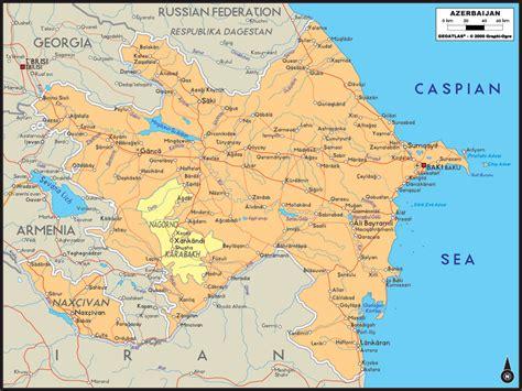 political map of azerbaijan political map of azerbaijan