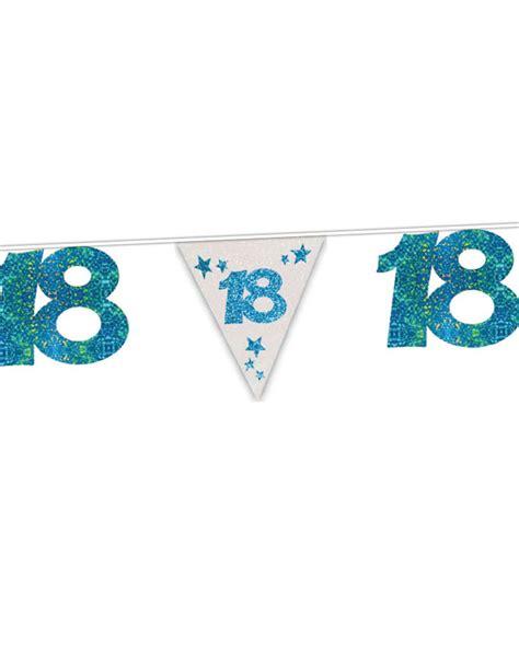 Girlande 18 Geburtstag by Girlande Zum 18 Geburtstag Mit Blauen Pailletten 6 Meter