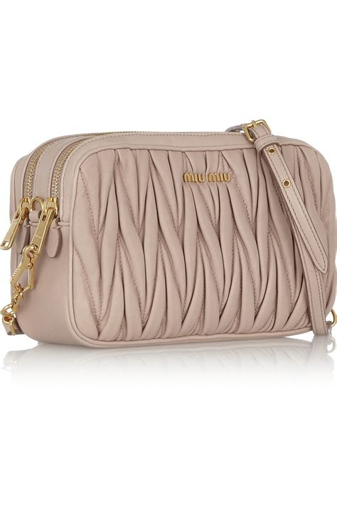 Miu Miu Shoulder Bag by Miu Miu Matelass 233 Leather Shoulder Bag In Lyst