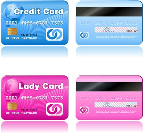 credit card vector template set free vector in