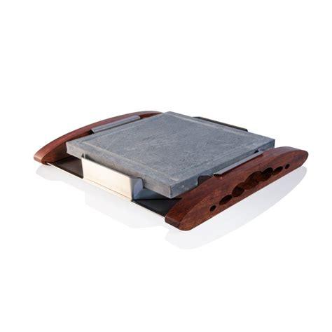 pietra ollare da tavolo pietra ollare con supporto 25x25 cm cis forniture