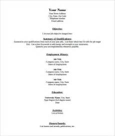 Resume Format Pdf Download 40 Blank Resume Templates Free Samples Examples