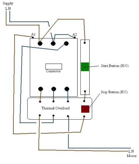 contactor and wiring diagram wiring diagram and