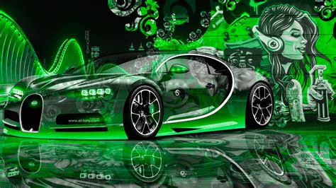 Car Graffiti Wallpaper by Bugatti Chiron City Graffiti Car
