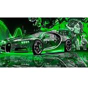 Bugatti Chiron Super Crystal City Graffiti Girl Dogs