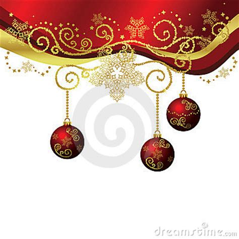 vector red gold christmas border isolated royalty  stock photo image