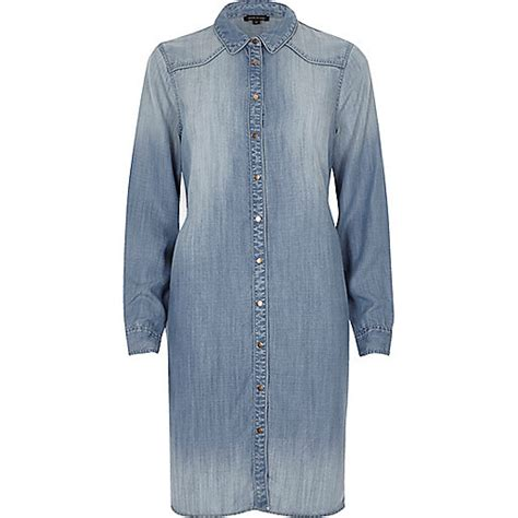 light denim dress light blue denim midi shirt dress shirt dresses