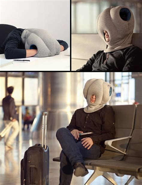Nap Anywhere Pillow by Strange Ostrich Pillow Lets You Sleep Anywhere Turns You