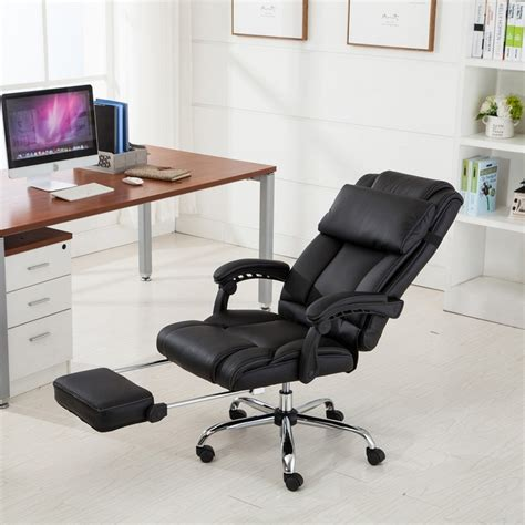 Reclining Back Chair by Belleze Executive Reclining Office Chair High Back Pu Leather Onebigoutlet