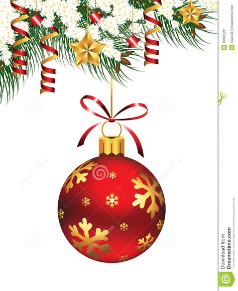 hanging christmas ornament stock vector image of