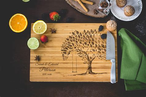 personalized tree swing personalized tree swing cutting board