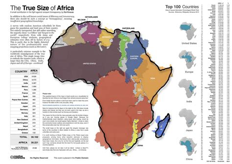 nonchalant the actual size of africa you seen