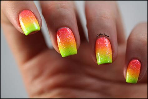 Cool Nail by Colourful Cool Nails Neon Image 740140 On Favim