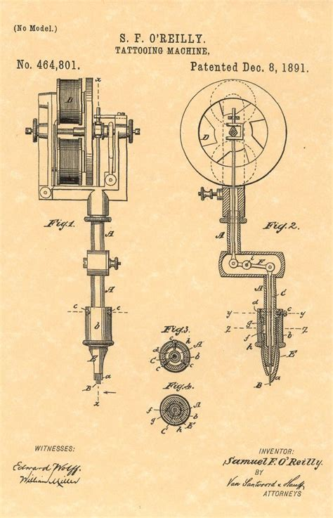 tattoo machine history 1891 samuel o reilly tattooing machine new york