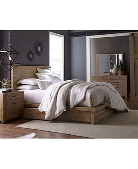 macy bedroom furniture abilene solid pine storage bedroom furniture collection