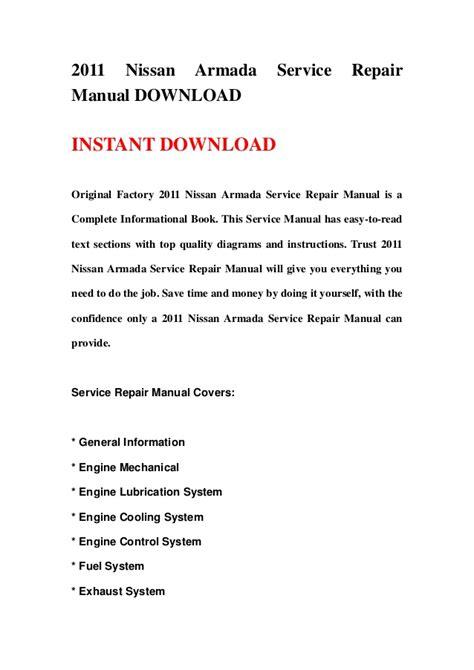 2011 Nissan Armada Service Repair Manual Download
